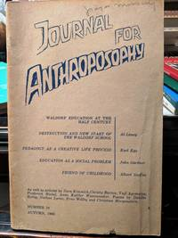 JOURNAL FOR ANTHROPOSOPHY Autumn 1969 Number 10
