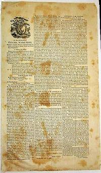 BY HIS EXCELLENCY SAMUEL WARD KING, GOVERNOR, CAPTAIN GENERAL, AND COMMANDER-IN-CHIEF OF THE STATE OF RHODE ISLAND AND PROVIDENCE PLANTATIONS. A PROCLAMATION. WHEREAS I HAVE THIS DAY RECEIVED FROM HIS EXCELLENCY JOHN TYLER, PRESIDENT OF THE UNITED STATES..