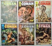 Lot 6 Savage Sword of Conan 1979 comics No. 45, 46, 47, 48, 52, 53