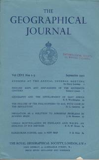 image of Geographical Journal Vol. CXVI Nos 1-3, September 1950
