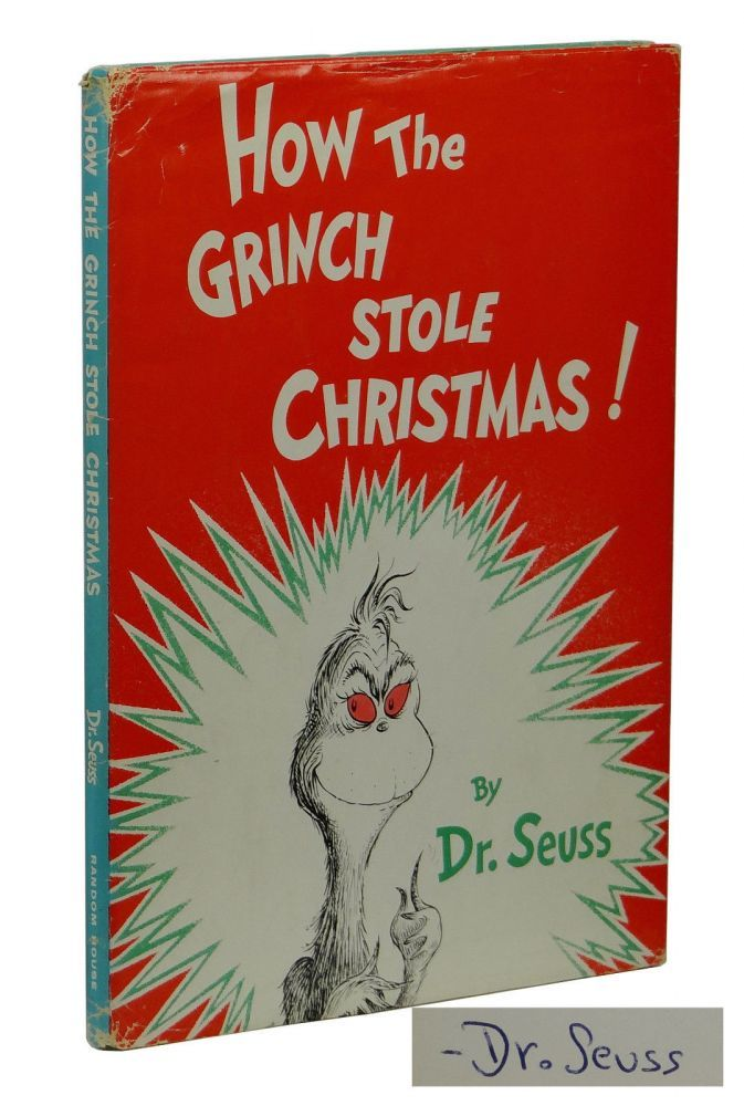 How The Grinch Stole Christmas Book Cover.How The Grinch Stole Christmas By Dr Seuss Signed First Edition 1957 From Burnside Rare Books Abaa And Biblio Com