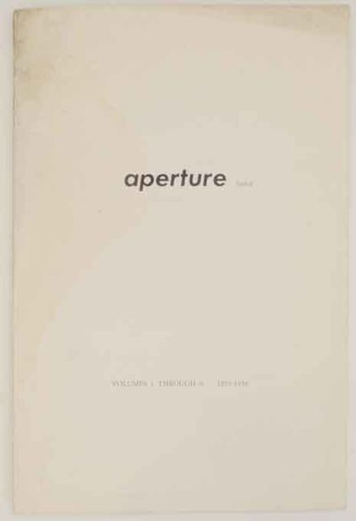 New York: Aperture, 1958. First edition. Softcover. 18 pages. An index for the first 6 years of Aper...
