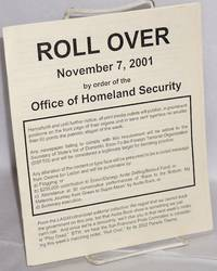 image of Roll over, November 7, 2001, by order of the Office of Homeland Security [reprinted from the November 2001 issue of UltraViolet]