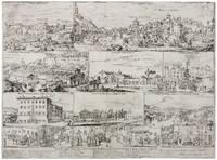 VERY RARE ILLUSTRATED BROADSIDE  ON THE 1656-57 ROME PLAGUE EPIDEMIC  Disegno dell'Isola et Altri Luoghi di Roma Serviti in Occasione di Peste l'Anno MDCLVI.