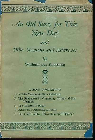 Richmond, Va: Central Publishing Co., Inc, 1954. First Edition. Signed presentation from Ransome on ...