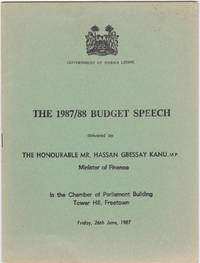 The 1987/88 Budget Speech