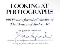 Looking at Photographs: 100 Pictures from the Collection of the Museum of Modern Art by  John; Barbara Morgan Szarkowski - Hardcover - Signed - 1973 - from A&D Books and Biblio.com
