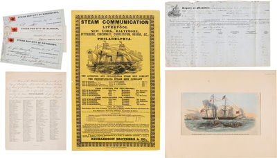 Liverpool & Philadelphia, 1852. Five items, detailed below. Overall very good. A small but important...
