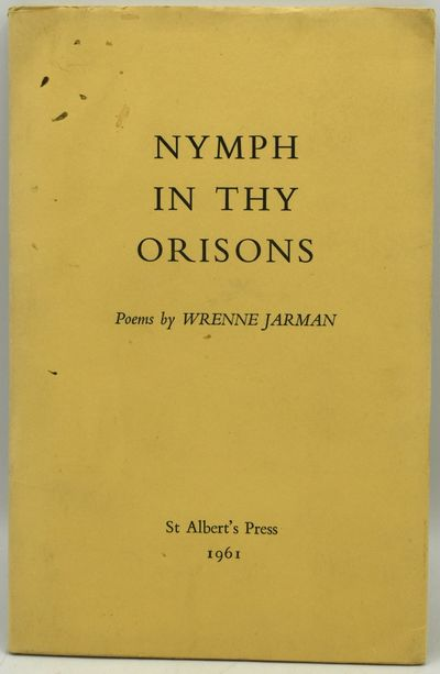 St Albert's Press, 1960. Soft Cover. Very Good binding. A book of poetry by Wrenne Jarman, a largely...