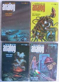 "Analog Science Fiction - Science Fact June, July, August & September 1970 featuring ""Star Light"" by Hal Clement + Compulsion, A Tale of the Ending, Message to an Alien, Meet a Crazy Lady Week, Brillo, Heavy Thinker, Lost Newton, Talk with the Animals, +++"