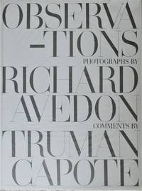 image of Observations. Photographs by Richard Avedon. Comments by Truman Capote.
