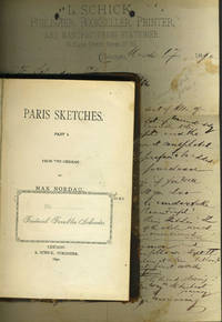 image of Paris Sketches. With letter of presentation and some notes on the issue