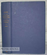 Ann Arbor: Clements Library, 1953. Cloth. 8vo. Cloth. ix, (i), 548 pages. 304 items well-indexed in ...