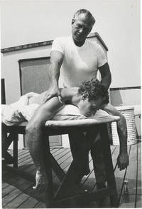 image of Arrowhead (Original oversize photograph of Charlton Heston receiving a massage on the set of the 1953 film)