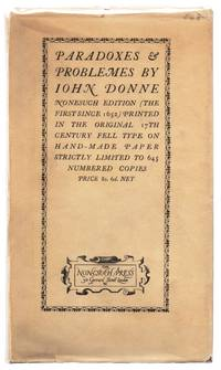 image of Paradoxes & Problemes by John Donne with two Characters and an Essay of Valour