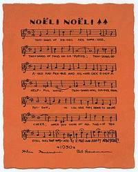 , 1930. Unbound. Fine. Printed 1930 Christmas card on orange paper with musical notation. Lightly so...