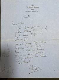 image of 1 page ALS   Autograph letter signed by Virginia Woolf to her brother-in-law Clive Bell