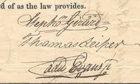 An Original Stock Subscription For the 2nd Bank of the United States, Signed by Its Chief Promoter, Stephen Girard