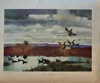 Three Mallards (Vintage Art Poster)