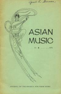 image of Asian Music: II-1; 1971 (Journal of the Society for Asian Music)