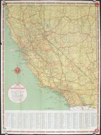California Nevada Highways. (Map title: Smiling Associated Dealers\'  Official Road Map California - Nevada). by CALIFORNIA / NEVADA ROAD MAP) -  Ca. ...