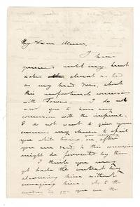 "One and one-half page autographed letter signed addressed to Horace Mann concerning an ""unfortunate connextion"""