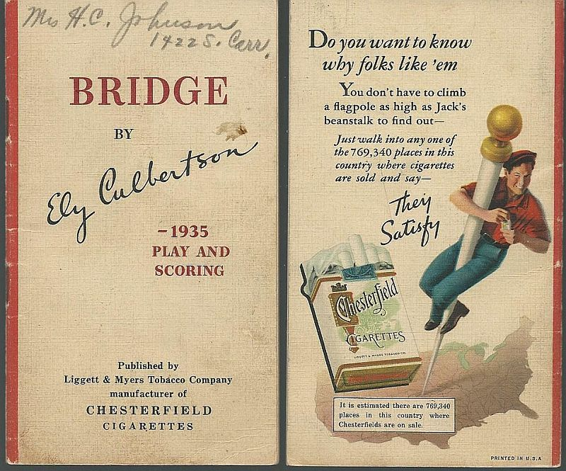 BRIDGE INSTRUCTION IN BIDDING AND PLAYING Based on the 1935 Play and Scoring, Culbertson, Ely
