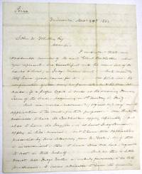 AUTOGRAPH LETTER SIGNED AND MARKED 'PRIVATE', FROM MILWAUKEE, DEC. 29, 1862, TO JOHN W. WHITING, ESQ., DISCUSSING THE DAMAGE TO BONDHOLDERS CAUSED BY AN UNFAIR, PENDING JUDICIAL SALE OF LANDS AND PROPERTY OF THE LA CROSSE AND MILWAUKEE RAILROAD