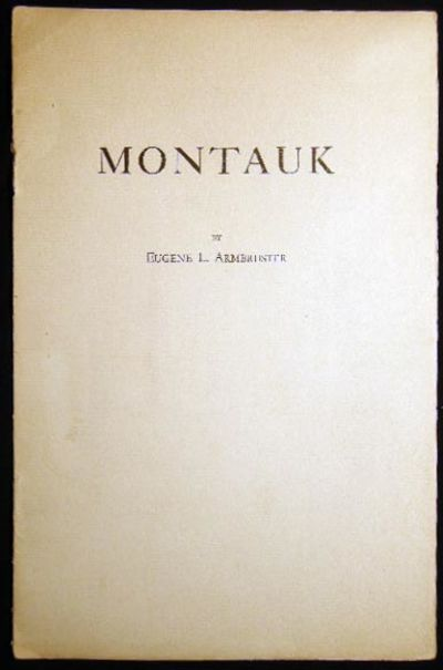 New York, NY: Author Published, 1923. 8 pages; unnumbered copy of a limited edition of 300, publishe...
