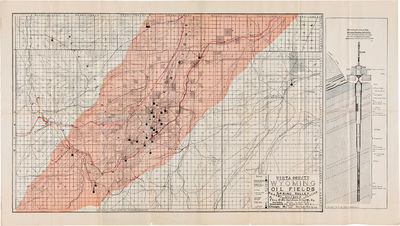 , 1903. Two-color map on thin paper, approximately 18 x 31 3/4 inches. Original folds. Slight separa...