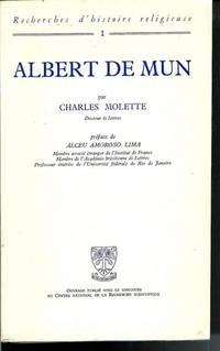 Albert De Mun Recherche D'histoire Religieuse by Charles Molette - Paperback - 1970 - from Pinacle Books and Biblio.com