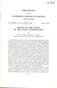 image of Review of the Snakes of the Genus Lytorhynchus