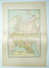 1889 Color Map of The Turkish Empire in Europe and Asia, Greece, Roumania, Etc.