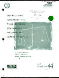 Specifications, Tolerances, and Other Technical Requirements for Weighing and Measuring Devices as adopted by the 85th National Conference on Weights and Measures 2000
