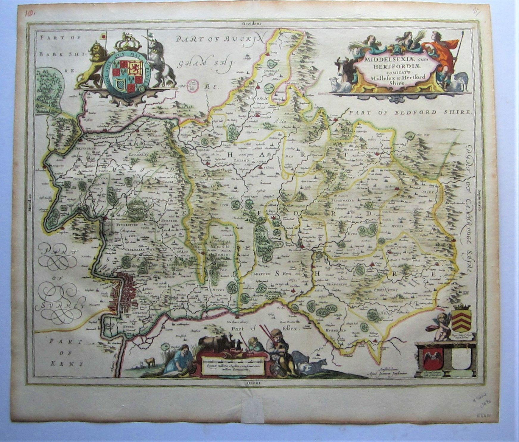 Middelsexiae cum Hertfordiae comitatu: Midlesex & Hertford Shire (photo 1)