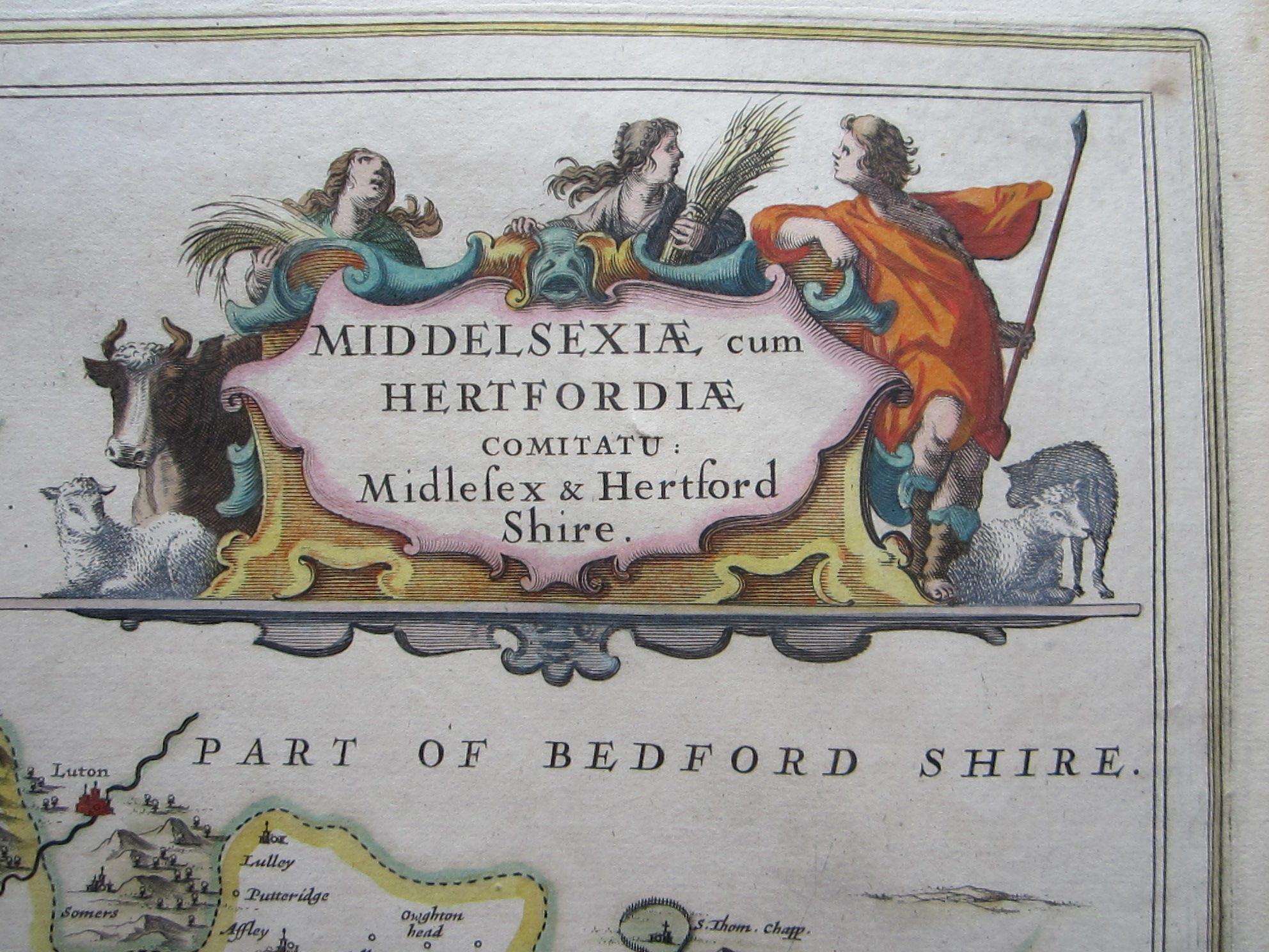 Middelsexiae cum Hertfordiae comitatu: Midlesex & Hertford Shire (photo 2)