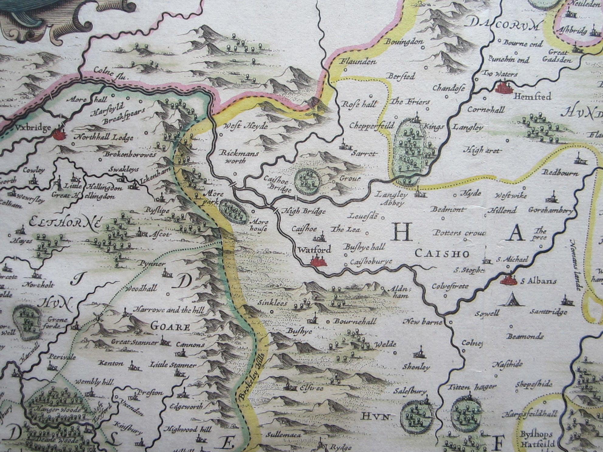 Middelsexiae cum Hertfordiae comitatu: Midlesex & Hertford Shire (photo 4)