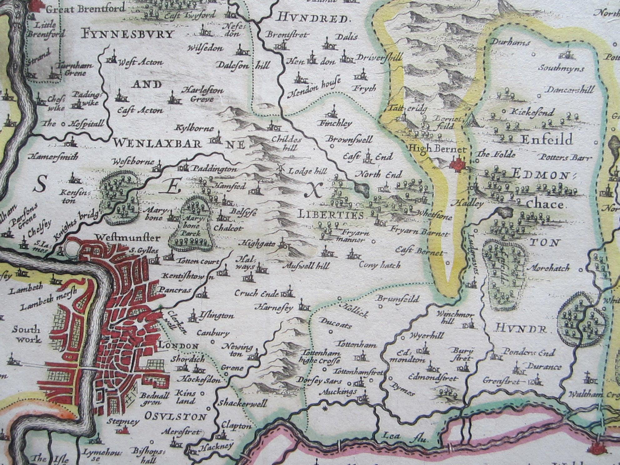 Middelsexiae cum Hertfordiae comitatu: Midlesex & Hertford Shire (photo 5)