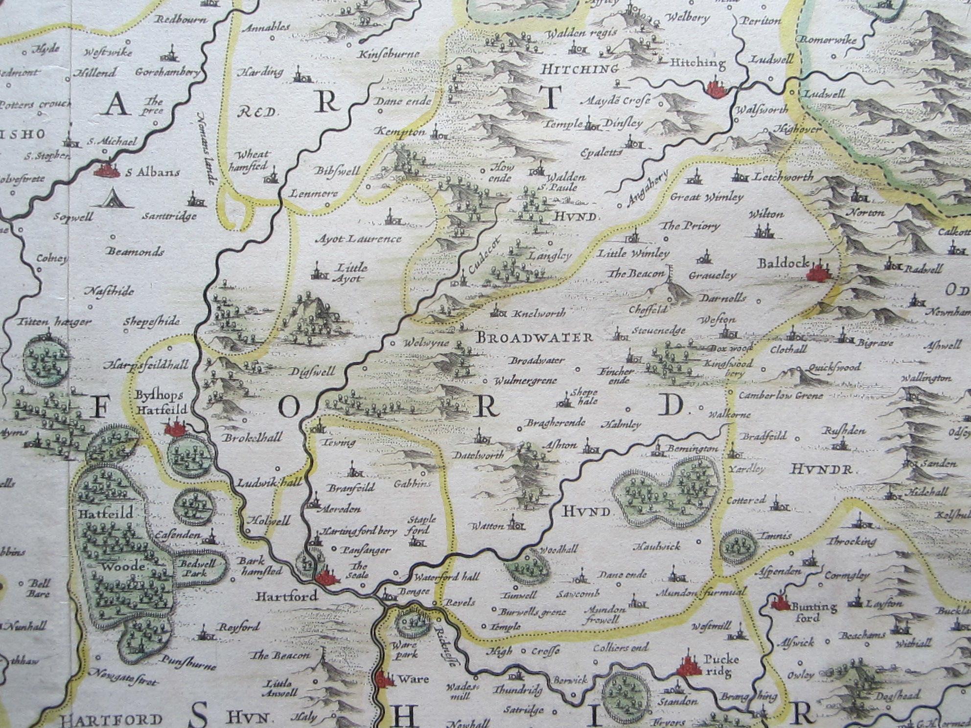 Middelsexiae cum Hertfordiae comitatu: Midlesex & Hertford Shire (photo 6)