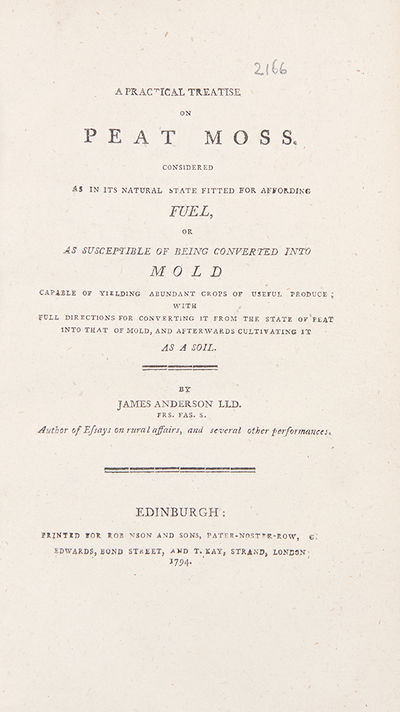 Edinburgh, 1794. Octavo. (8 1/8 x 4 3/4 inches). , 150 pp. Errata/ad leaf in rear. Later brown cloth...