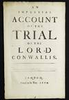 An Impartial Account of the Trial of Lord Conwallis [sic]