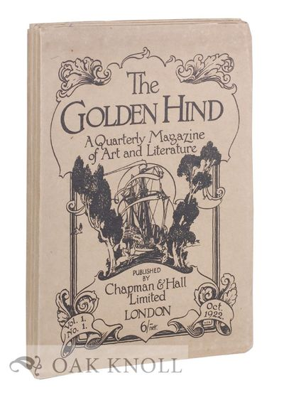 London, England: Chapman & Hall, 1922. stiff paper wrappers. folio. stiff paper wrappers. 47+(1); 39...