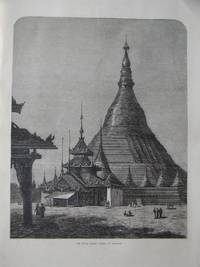 The Shwei Dagon Pagoda at Rangoon. (Burma). by Engraving - 1872 - from N. G. Lawrie Books. (SKU: 47195)