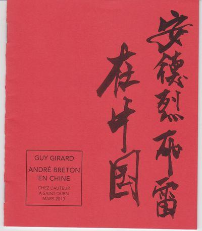 Saint-Quen: Chez d'Auteur. 2013. First Edition; First Printing. Softcover. Wraps, a fine copy, signe...