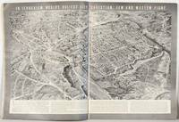 Bird's-eye view map of Jerusalem in complete issue of Life Magazine