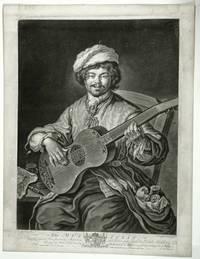 The musician Mezzotint  on paper
