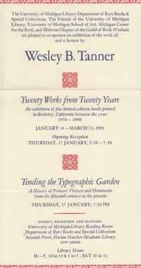 Twenty Works from Twenty Years [and] Tending the Typographic Gerden