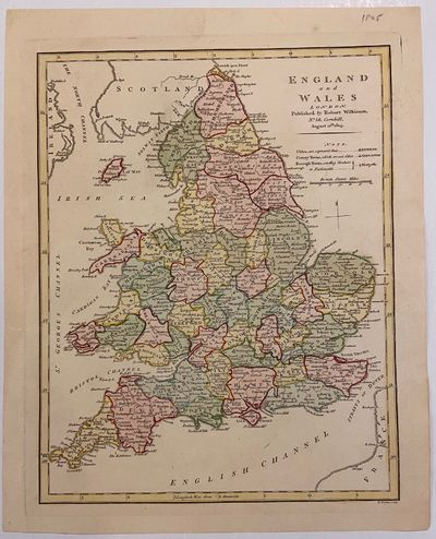London: Robert Wilkinson, 1805. unbound. Map. Engraving with hand coloring. 13