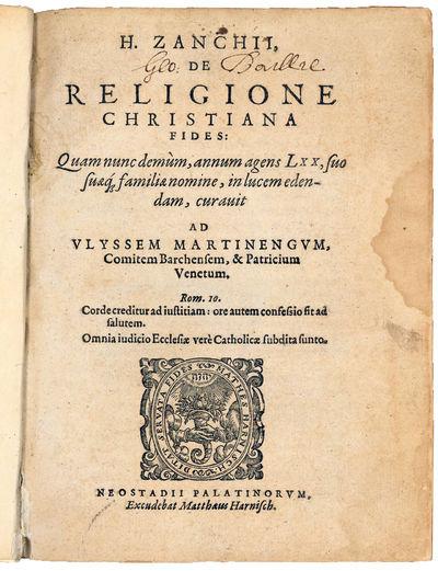De religione Christiana fides: Quam...