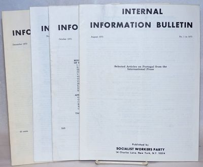 New York: Socialist Workers Party, 1975. Four thin volumes, wraps, 8.5x11 inches, complete run for t...